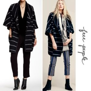 Free people wool cape blanket woven poncho